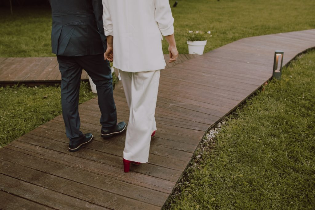 newlyweds go for wedding photography