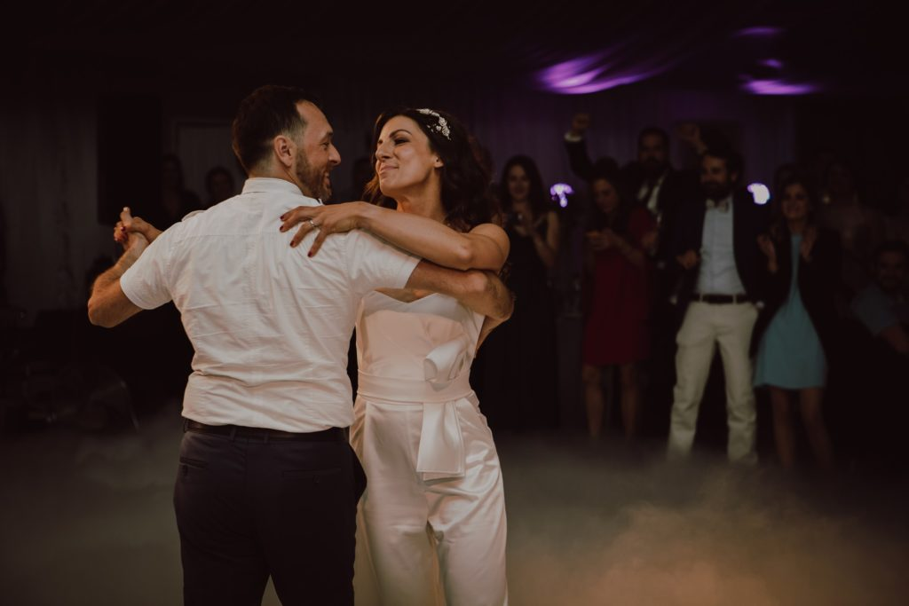 the first dance of newlyweds